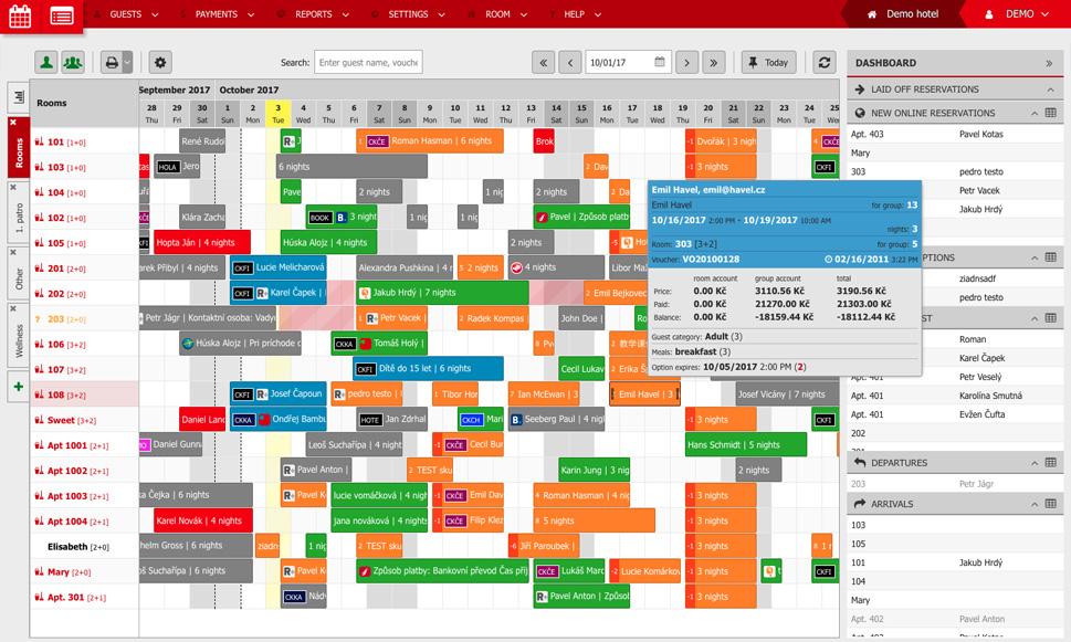 Foglalási naptár